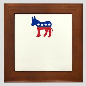 Democrats Cleaning - Black Framed Tile