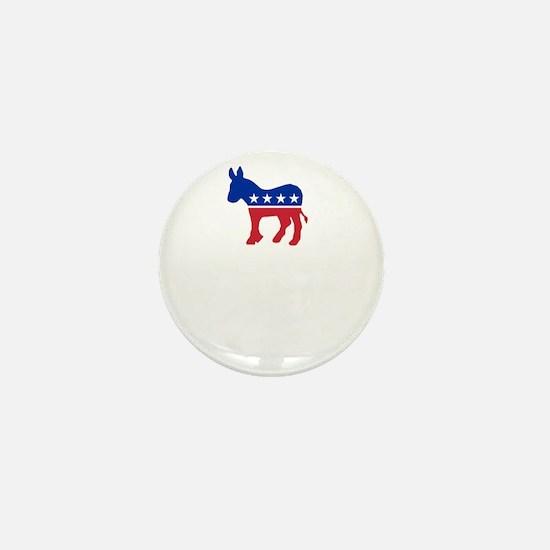 Democrats Cleaning - Black Mini Button