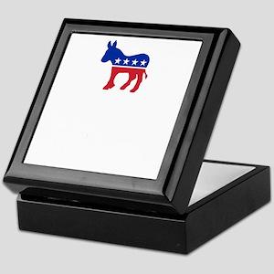 Democrats Cleaning - Black Keepsake Box
