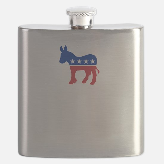 Democrats Cleaning - Black Flask