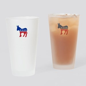 Democrats Cleaning - Black Drinking Glass