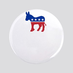 """Democrats Cleaning - Black 3.5"""" Button"""