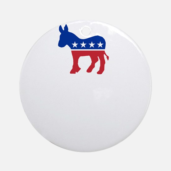 Democrats Cleaning - Black Round Ornament