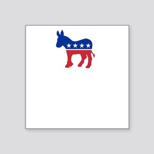 "Democrats Cleaning - Black Square Sticker 3"" x 3"""