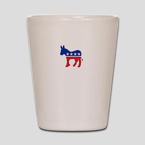 Democrats Cleaning - Black Shot Glass
