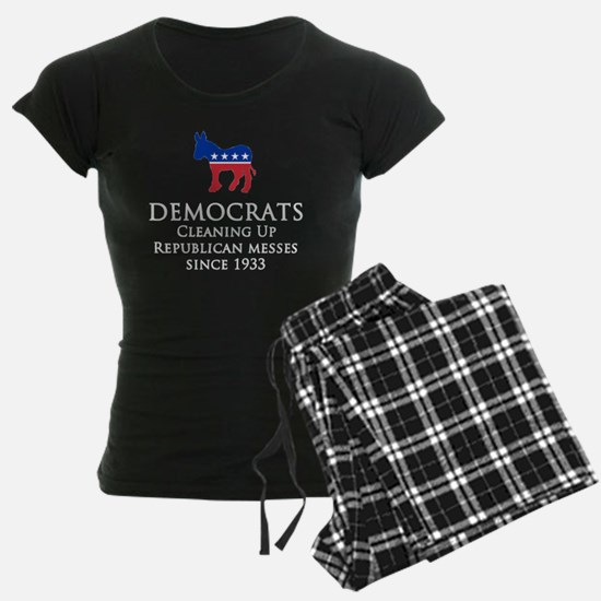 Democrats Cleaning - Black Pajamas