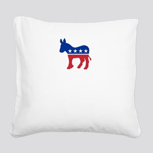 Democrats Cleaning - Black Square Canvas Pillow