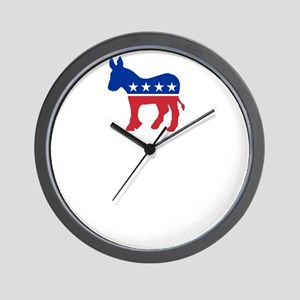 Democrats Cleaning - Black Wall Clock