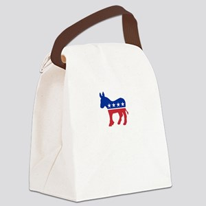 Democrats Cleaning - Black Canvas Lunch Bag