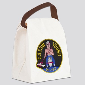 cyoung patch Canvas Lunch Bag