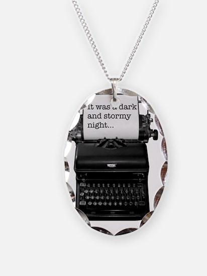 Dark and stormy night typeweri Necklace
