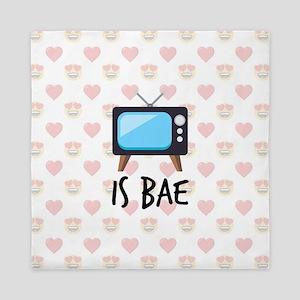 TV is Bae Emoji Queen Duvet