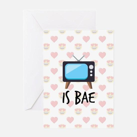 TV is Bae Emoji Greeting Card