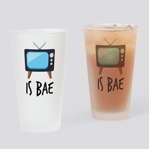 TV is Bae Emoji Drinking Glass