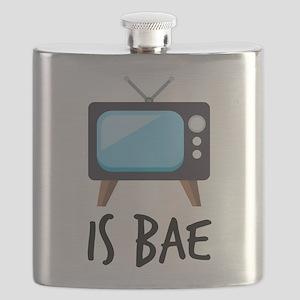 TV is Bae Emoji Flask