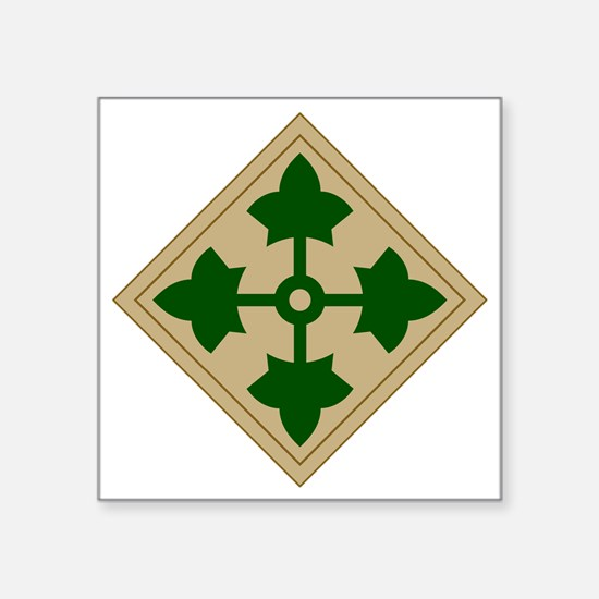 """4th Infantry Division Square Sticker 3"""" x 3"""""""