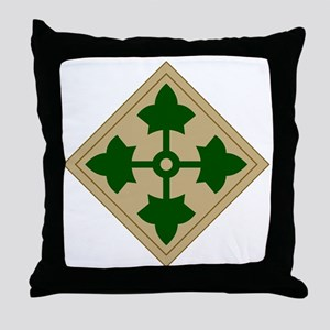 4th Infantry Division Throw Pillow