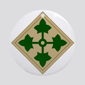 4th Infantry Division Round Ornament