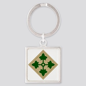 4th Infantry Division Square Keychain