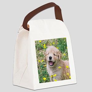 Golden Retriever Puppy Mousepad Canvas Lunch Bag