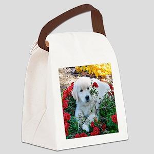 Gp;dem Retriver Puppy Mousepad Canvas Lunch Bag