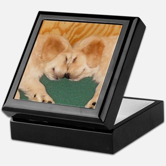 Golden Retriever Puppies Mousepad Keepsake Box