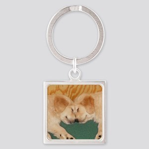 Golden Retriever Puppies Mousepad Square Keychain