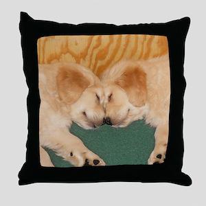 Golden Retriever Puppies Mousepad Throw Pillow