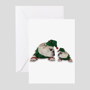 Santas Elves Greeting Cards