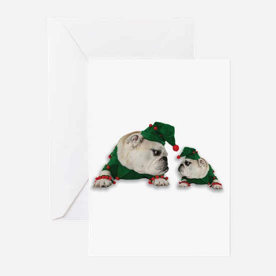 Santas Elves Greeting Cards