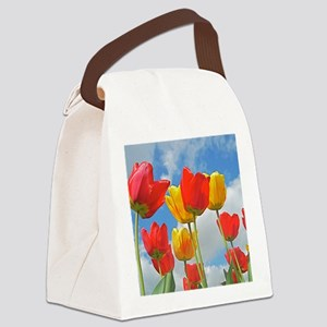 Red and Yellow Tulps Mousepad Canvas Lunch Bag