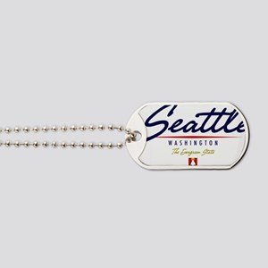 Seattle Script W Dog Tags