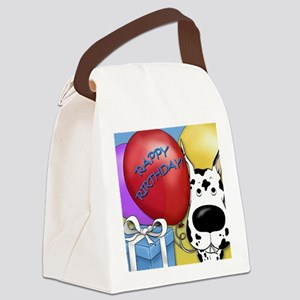 HarlequinDaneBDayCard Canvas Lunch Bag