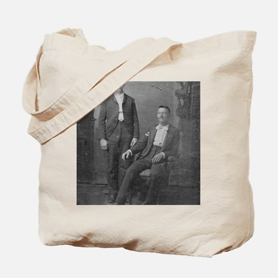 note card tintype gentlemen 1 Tote Bag