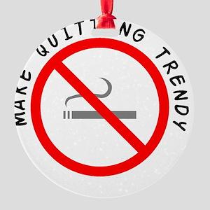 STOP_SMOKING Round Ornament