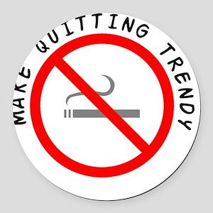 STOP_SMOKING Round Car Magnet