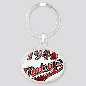 1948 Vintage Red Oval Keychain