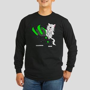 Snowmobile Green for Clea Long Sleeve Dark T-Shirt