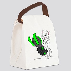 Snowmobile Green for Clear iPhone Canvas Lunch Bag