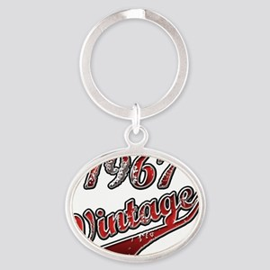 1967 Vintage Red Oval Keychain