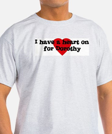 Heart on for Dorothy Ash Grey T-Shirt