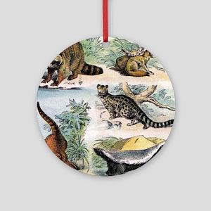 Four Mammals Round Ornament