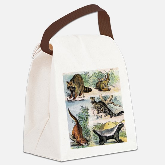 Four Mammals Canvas Lunch Bag