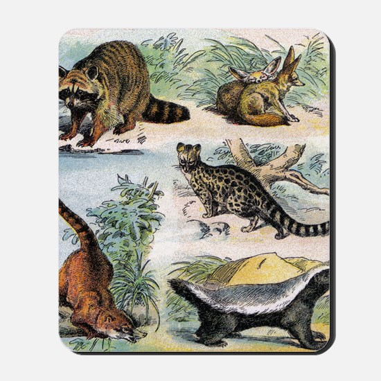 Four Mammals Mousepad