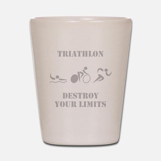 Triathlon Destroy Grey Shot Glass
