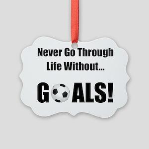 Soccer Goals Black Picture Ornament
