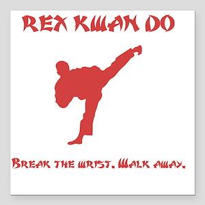 """Rex Break Wrist Red Square Car Magnet 3"""" x 3"""""""