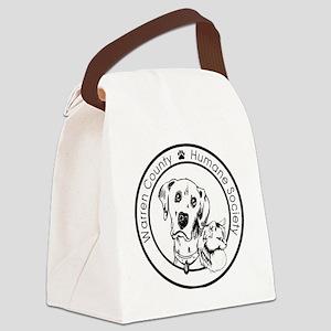 WCHUMANE CIRCLE LOGOa Canvas Lunch Bag