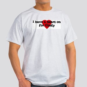 Heart on for Cindy Ash Grey T-Shirt