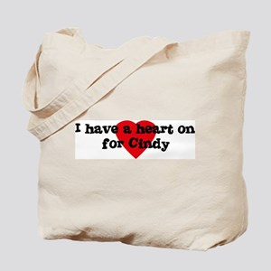 Heart on for Cindy Tote Bag